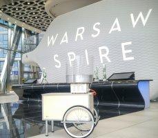 Stoisko z naszą watą cukrową w Warsaw Spire