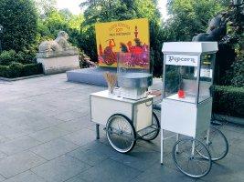 maszyna do popcornu i waty cukrowej do wynajęcia