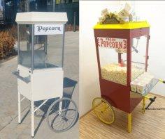 wózki z popcornem do wynajęcia