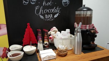 Gorąca czekolada do picia catering
